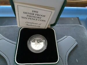 UK 1992 Silver Proof Piedfort 10 Pence Coin