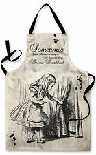 Splashproof Novelty Apron Alice in Wonderland Six Impossible Things Peeking