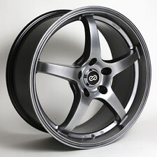 18 ENKEI VR5 HYPER BLACK RIMS 18x8 +50 5x114.3 (4 NEW WHEELS)