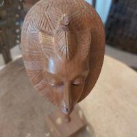 statuette Afrique A RESTAURER Reproduction de Masque Africain Bois Sculpté