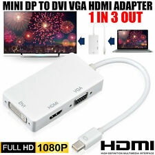 Mini DisplayPort DP to HDMI/VGA/DVI Adapter ThunderBolt For Macbook Pro Air iMac