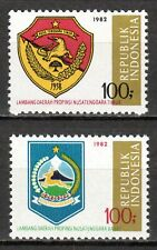Indonesia - 1982 Coats of Arms (VI) - Mi. 1057-58 MNH