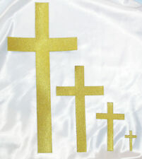 Cross Iron On Patch Applique -Plain Cross Iron in colours and sizes x 1