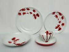 Mikasa Pure Red 5 Piece Place Setting New with Tags MSRP $100