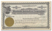 Humboldt Quicksilver Corporation Stock Certificate (Mercury)