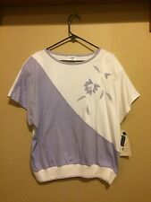 Aileen Too Lilac and White Blouse size 20w