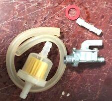 80cc engine motor parts - fuel line , filter, petcock