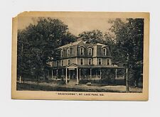 Maryland Md Mt. Lake Park (Garrett Co) Braethorne, antique postcard