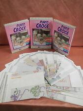 L'ARTE DEL PUNTO CROCE HOBBY WORK 4 Voll. +  schemi
