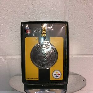 Pittsburgh Steelers Collector Ornament Silver Ben Roethlisberger Limited Ed. NFL