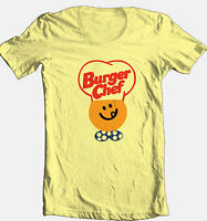 Burger Chef T-shirt retro 70's 80's fast food restaurant 100% cotton graphic tee