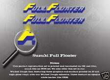 SUZUKI RM250 RM125 LT250 FULL FLOATER SWINGARM DECALS