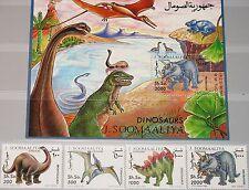 SOMALIA 1993 480-83 Block 29 Dinosaurier Dinosaurs prähistorische Tiere MNH