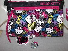 "New HELLO KITTY Girl's HandBag Bag Crossbody  8"" X 10.5""X3"" + Free Keychain"