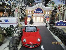 "HOUSE VILLAGE DIE-CAST "" BMW Z8 RED CONVERTIBLE "" plus+ DEPT 56/LEMAX info"