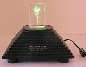 ROTATING MULTI COLOR LIGHT BASE QUARTZ HALOGEN LAMP