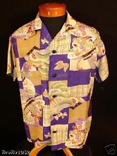 VINTAGE MUSEUM QUALITY 1930'S SILK HAWAIIAN SHIRT