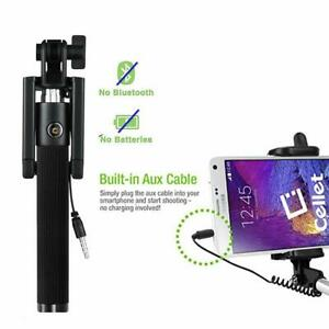 Mini Selfie Stick Monopod Wired Extendable Mobile Monopod for IOS &Android 3.5mm