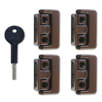 Yale 8K101 Pivoted Window Lock Brown x 4 (V-8K101-4-BR)