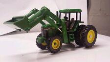1/64 ERTL custom John deere 7710 tractor with Duals & John deere loader farm toy
