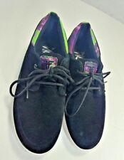 Fallen Roach Round Toe Black Suede Skateboard Shoe w Tie Dye Trim Size 11