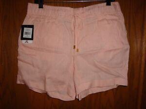 Ellen Tracey Womens Linen Champagne Shorts Size:  M  NWT