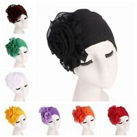 Muslim Women King Flower Size Hat Turban Chemo Cap Hair Loss Stretchy Headscarf