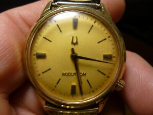 Vintage 1971 Bulova Accutron Watch 2180 18K HGE