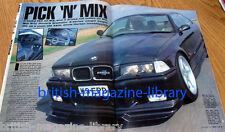 BMW Car 11/1995 new E39 new E36 328i BMW 501 V8 E36 (Hartge badge) 320i BMW 2002