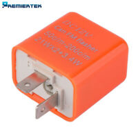 2-Pin LED Flasher Relay w/Adjustable Flash Speed Interval Fix LED Hyper Blink