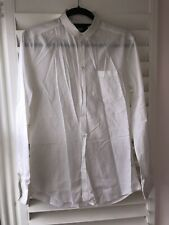 Mens D&G Dolce And Gabbana 'brad' White Shirt 100% Cotton Fitted 40 15 3/4