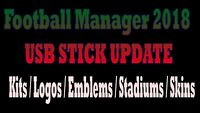 FM 2018 Football Manager 2018 Logos Faces Kits Update 16gb USB Stick