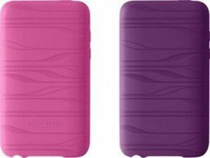F8Z554-108-2BBY - PINK/PURPLE - 2-Pack Wave Silicone Sleeve for iPod Touch 2G