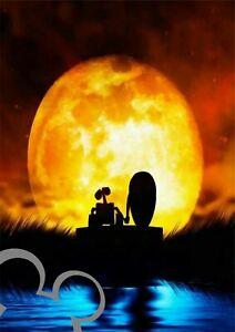 Disney Wall E Moon art print A4, poster, picture, nursery, gift,