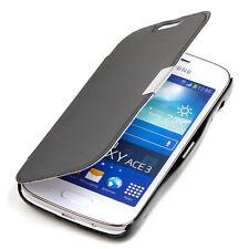 Samsung Galaxy Ace 3 Hülle Tasche Case Schutz Etui Wallet Cover schwarz
