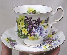 Vintage Paragon Cup Saucer Flower Festival Violets Buttercups Ylw Purple