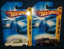 2007 Hot Wheels '64 Lincoln Continental Lot of 2 White & Purple Variations