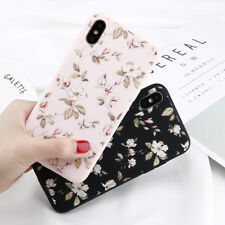 For iPhone X 8 7 6 Plus 5 SE Cute Rubber Soft Silicone Pattern Flower Case Cover