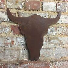 Cabeza De Vaca Rusty toros cabeza cráneo cornamentas Signo de Metal de inicio Tienda Bar Pub peluquería