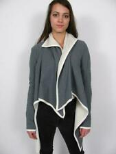 LULULEMON PRESENCE OF MIND GREY CREME FLEECE LINED ASYMMETRICAL COAT JACKET~6