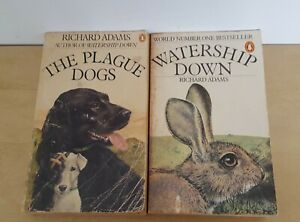 Richard Adams Watership Down & The Plague Dogs Vintage 1970s Books