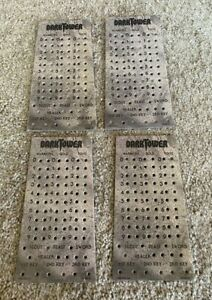 Dark Tower Board Game Score Charts Peg Boards Four (4) Free Shipping