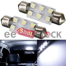 Ampoule navette 6 led 12V (2pcs) voiture intérieur boite 36 mm plaque coffre