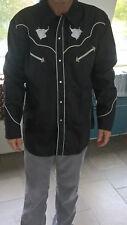 Vintage  unworn cowboy shirt Texas Black and white