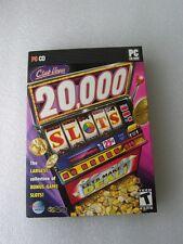 CLUB VEGAS 20,000  SLOTS VIDEO GAME,  PC CD , UPC #838639004690