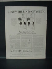 1925 Spencer Corsets Undergarments Women's Clothing Vintage Print Ad 193