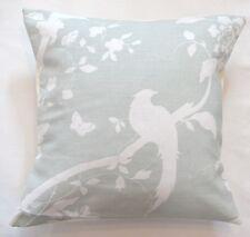 "16"" Laura Ashley 'Oriental Garden' Eau De Nil fabric cushion cover"