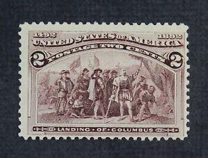 CKStamps: US Stamps Collection Scott#231 2c Columbian Mint NH OG Broken Hat