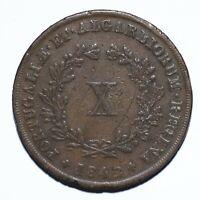 1842 Portugal Ten 10 Reis - Maria II - Lot 1319