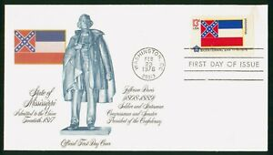 MayfairStamps US FDC Unsealed 1976 Mississippi State Facts First Day Cover wwr13
